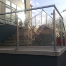 Glass to Stainless Steel Clamps & Handrail